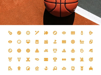 Sports Icons Outline 24 px