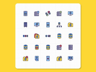 Networking  Data Icons