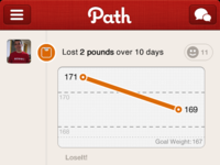 LoseIt! Moment in Path