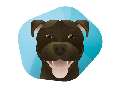 Staffordshire Bull Terrier pooch texture geometric portrait infographic staffie staffordshire pet animal dog vector illustration