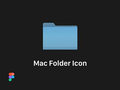 Mac Folder - Vector Icon icon gumroad graphic figma template sketch app design