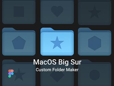 MacOS Custom Folder Maker for Figma illustration branding graphic gumroad figma design