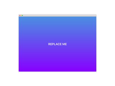 Mac App Template
