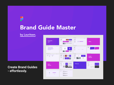 Brand Guide Master for Figma brand identity client graphic design template master figma style guide brand