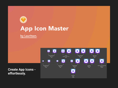 App Icon Master (From Sketch to Xcode) swiftui swift ipad iphone apps code design template icon app xcode simple sketch