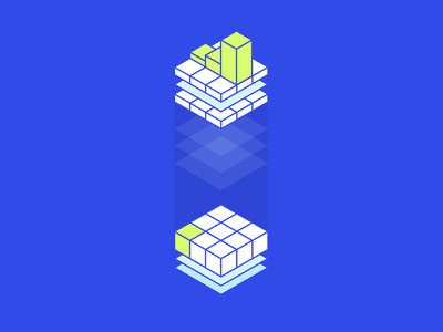 Data transfer data branding app illustration