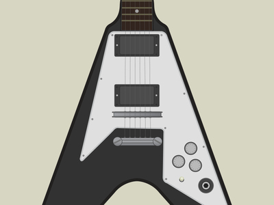 Flying V guitar illustration