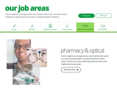Job areas tab design tabs ui