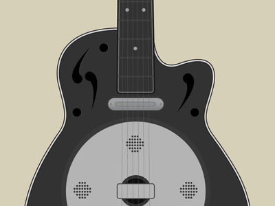 Dobro Guitar illustration guitar