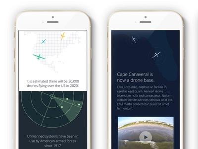 Drones Infographic infographic ui mobile