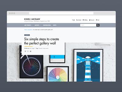 Blog design e-commerce blog