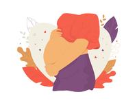 Pregnancy icon flat illustration