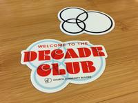 Decade Club Sticker