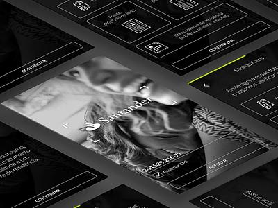 Santander Future bank ux ui bank app mobile