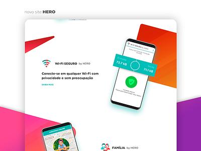 New HERO app website ux wifi ui safety app