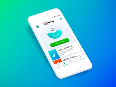 Hero Optimizer App prototype ui ux mobile