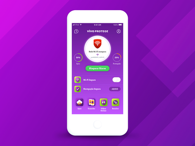 Vivo Protege App mobile app ui ux protection