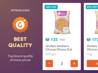 Grofers - Top brand quality at lower prices