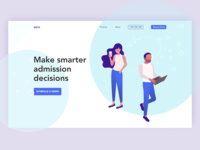 Admission website idea