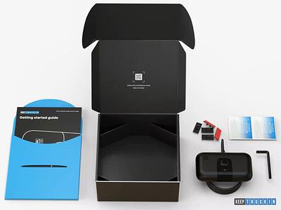 Unboxing animation industrial design dashcam animation motion graphics hardware 3d rendering cinema4d 3d modeling