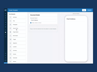 Custom Document Creator - Driver App