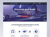 Crate.DJ web home screen