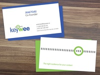 Business Cards for KeyWee Start-up