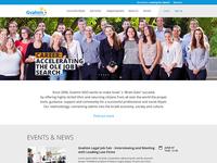 Flat UI design for corporate professional website