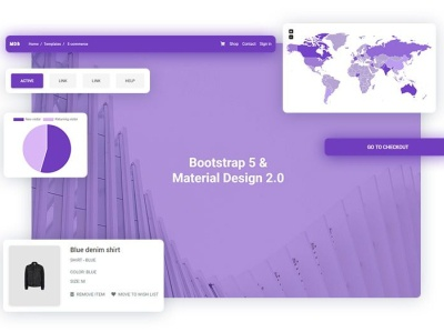 The first UI Kit for Bootstrap 5! Using Material Design 2.0 ui kits release material design 2.0 bootstrap