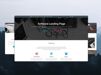 Material Design Software Landing Page
