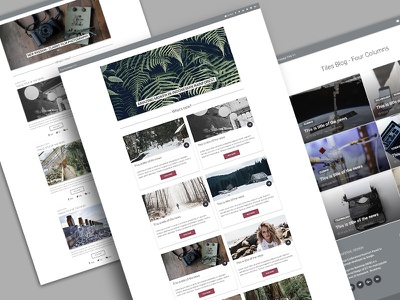 Material Blog Homepage bootstrap material design homepage blog