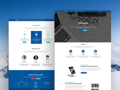 Software Landing Page Template bootstrap material design landing page company software