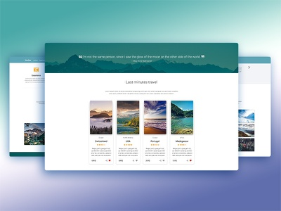 Travel Landing Page material design bootstrap landing page trip travel