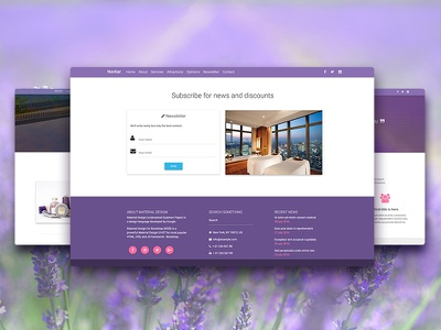 Redesigned Spa Landign Page responsive material design hostel spa