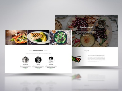 Rebound on our Material restaurant landing page template material design landing page restaurant