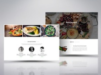 Rebound on our Material restaurant landing page