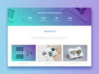Landing page for creative