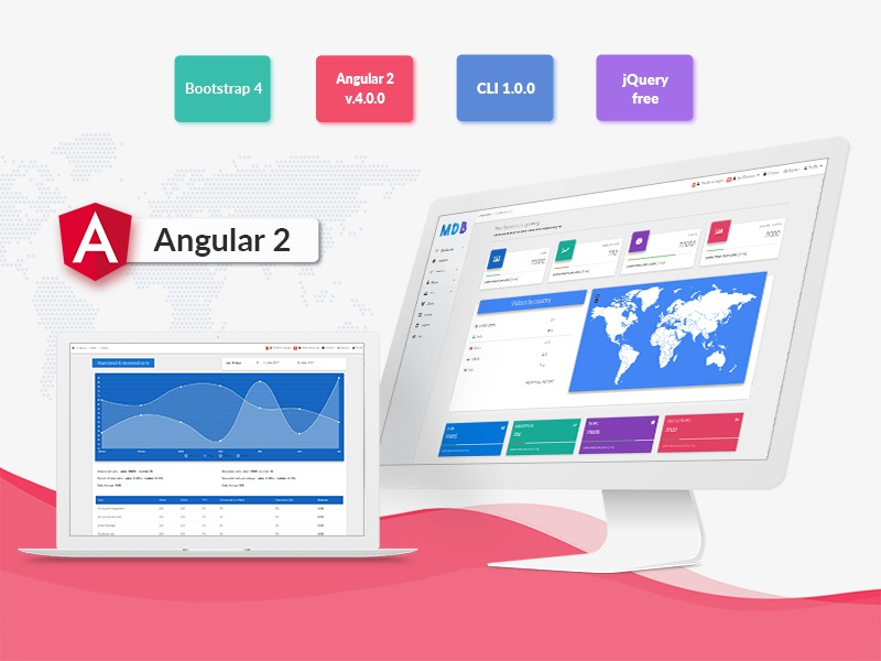 Angular + Material Design by MDBootstrap on Dribbble