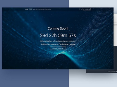 Coming Soon Template js web ux ui html css design template bootstrap material design