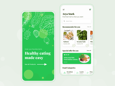 Nutrition Food Store Mobile App recipe app nutrition recipe mobile food health fitness typography store nutrition shop ios interface design fruits interface fruit app fruit food ecommerce design delivery cards calories app