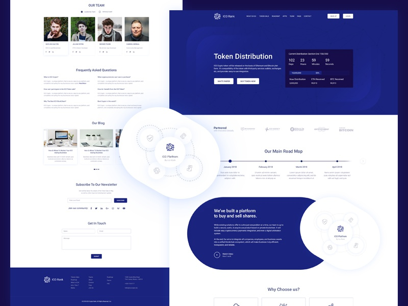 Bitcoin   Crypto Currency Landing Page web ui timer tech purple page landing isometric illustration dark crypto bitcoin