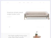 Sofa UI Landing Page Concept Freebie