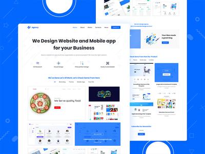 Digital Agency Landing Page creative case behance app user illustration landing flat minimal web experience website interface ux page ui design agency digital digital ads