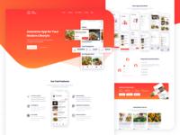 Food Delivery app Landing Page V2