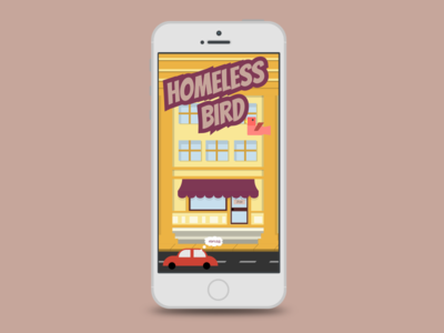 Homesless Bird unity ui character screen home bird illustration design game