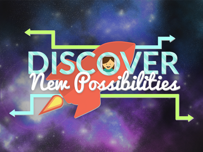 Discover New Possibilities rocket space motivational