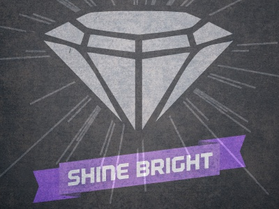 Shine Bright shine bright logo diamond rays scroll