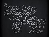 Mandy & Matt (Rough)