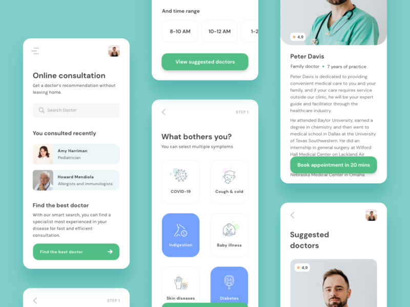 Find Therapist app concept minimal mobile design mobile app mobile ui mobile adobe xd minimalist ui design therapist online doctor app design ui healthcare app healthcare
