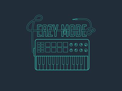 Synthesizer fo Eazy Mode line illustration black green line illustration synth synthesizer